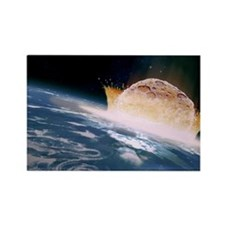 Asteroid impact - Rectangle Magnet