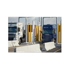 Container port security - Rectangle Magnet