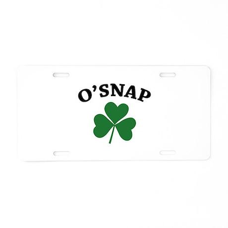 O'SNAP Aluminum License Plate