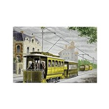 Early electric tram - Rectangle Magnet