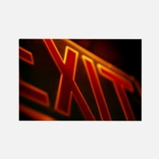 Exit sign - Rectangle Magnet