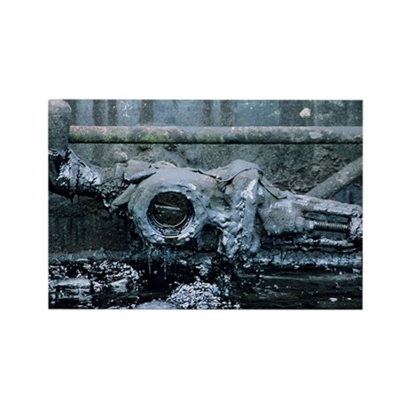 Crude oil valve - Rectangle Magnet