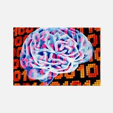 Digital brain - Rectangle Magnet
