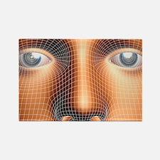 Face biometrics - Rectangle Magnet