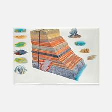Geological formations, artwork - Rectangle Magnet