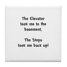 Recovery 12 Step Slogan Tile Coaster