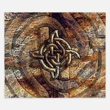 Celtic Rock Knot King Duvet Cover