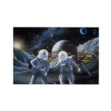 Lunar survey team - Rectangle Magnet