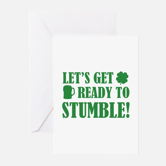 Let's get ready to stumble! Greeting Cards (Pk of