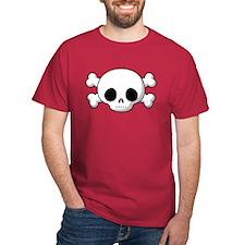 Skull & Cross Bones Red T-Shirt