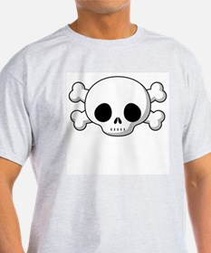 Skull & Cross Bones Grey T-Shirt