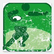 """Rugby (used) Square Car Magnet 3"""" x 3"""""""