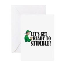Let's get ready to stumble! Greeting Card
