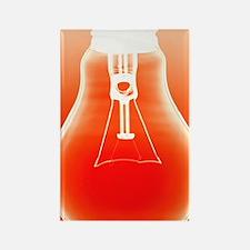 Light bulb - Rectangle Magnet