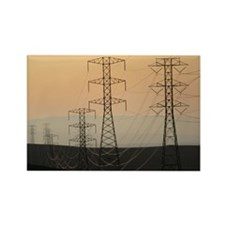 Power lines - Rectangle Magnet