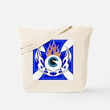 Flaming Eye Tote Bag