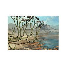 Prehistoric club moss, artwork - Rectangle Magnet
