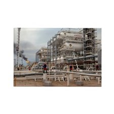 Oil refinery - Rectangle Magnet