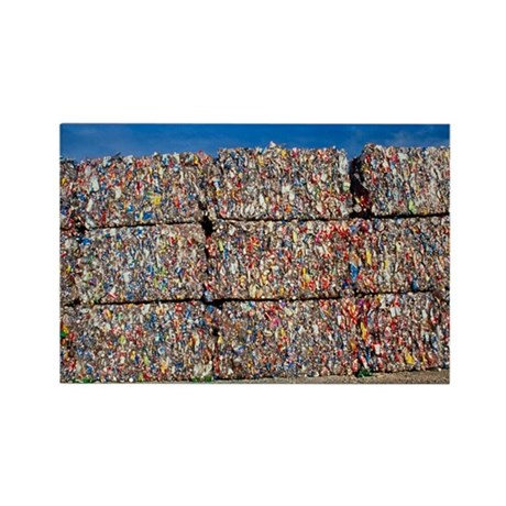Plastic recycling - Rectangle Magnet
