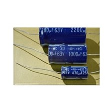 Three electrolytic capacitors - Rectangle Magnet