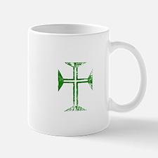 Pretty green christian cross 2 L z Mug