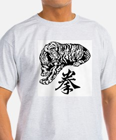 Crouching Tiger Ash Grey T-Shirt