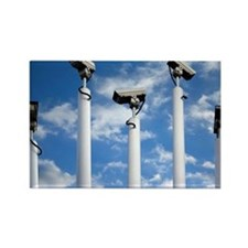 Surveillance cameras - Rectangle Magnet