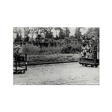 Testing motor horns, 1929 - Rectangle Magnet