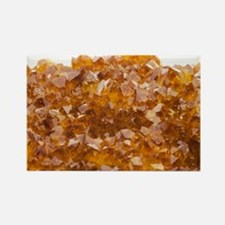 Citrine crystals - Rectangle Magnet