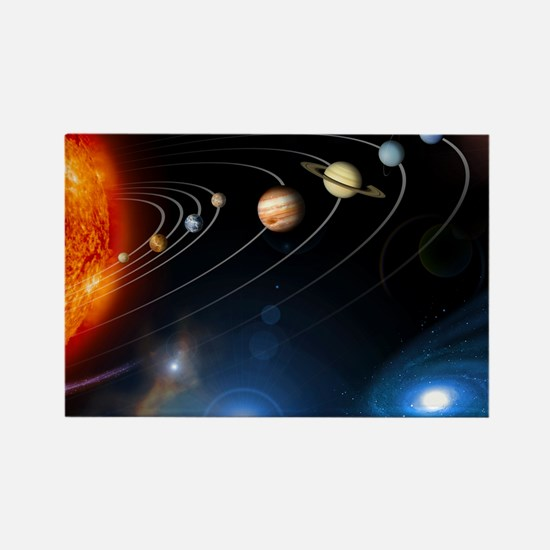 Solar system planets - Rectangle Magnet