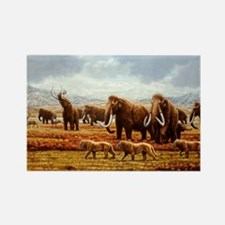 Woolly mammoths - Rectangle Magnet