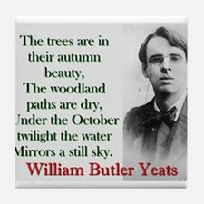 The Trees Are In Their Autumn Beauty - Yeats Tile