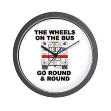 Ambulance Wheels Go Round Wall Clock