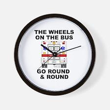 Ambulance Wheels Go Round Wall Clock