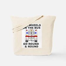 Ambulance Wheels Go Round Tote Bag