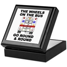 Ambulance Wheels Go Round Keepsake Box