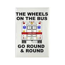 Ambulance Wheels Go Round Rectangle Magnet
