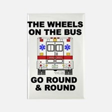 Ambulance Wheels Go Round Rectangle Magnet