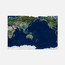 Whole Earth, satellite image - Rectangle Magnet