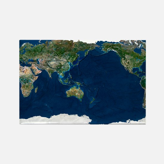 Whole Earth, satellite image - Rectangle Magnet