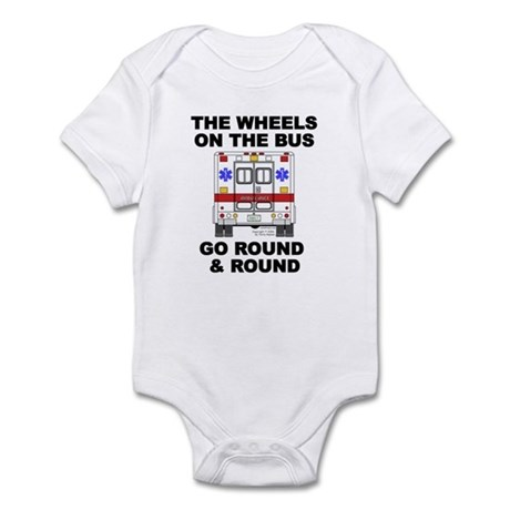 Ambulance Wheels Go Round Infant Bodysuit
