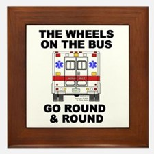 Ambulance Wheels Go Round Framed Tile