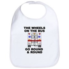 Ambulance Wheels Go Round Bib