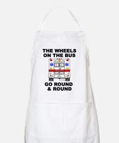 Ambulance Wheels Go Round BBQ Apron
