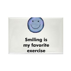 Smiling is my favorite exerci Rectangle Magnet (10