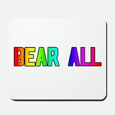 BEAR ALL RAINBOW TEXT Mousepad