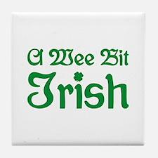 A Wee Bit Irish Tile Coaster
