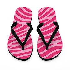Pink Zebra Animal Print Flip Flops