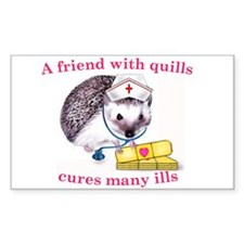 A friend with quills Rectangle Decal