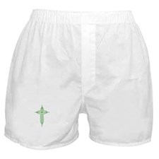Pretty green christian cross 2 U P Boxer Shorts